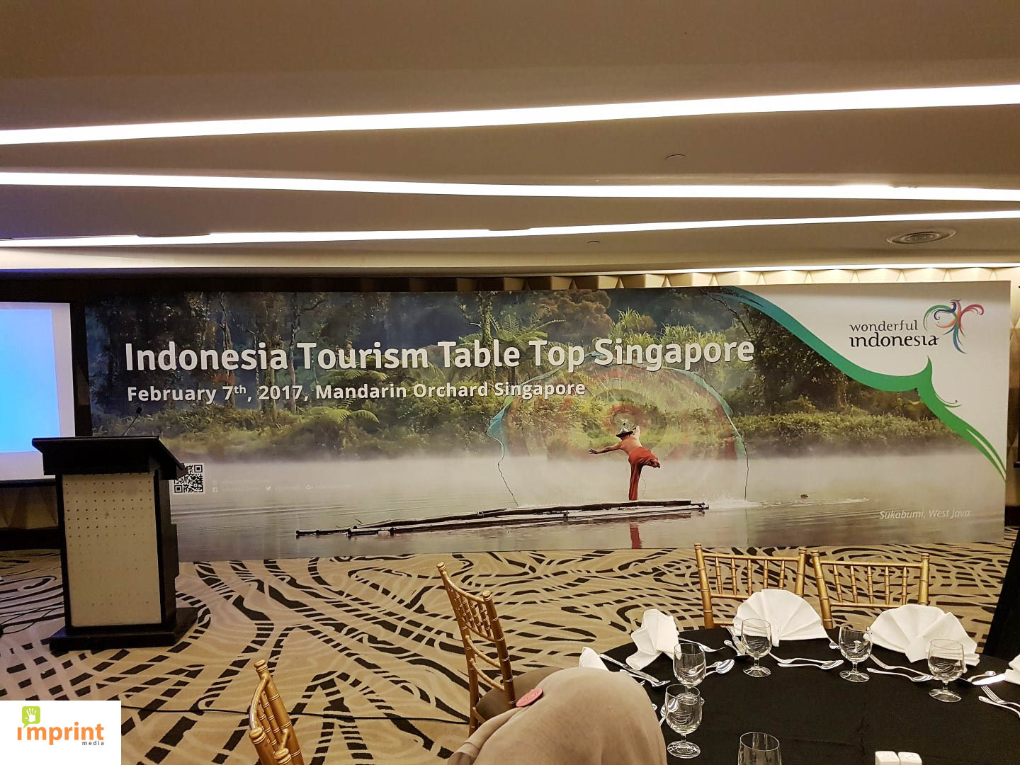 Indonesia Tourism Table Top backdrop by Imprint Media