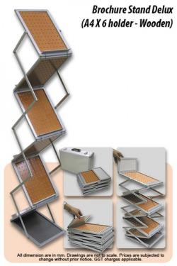 deluxe wooden brochure stand