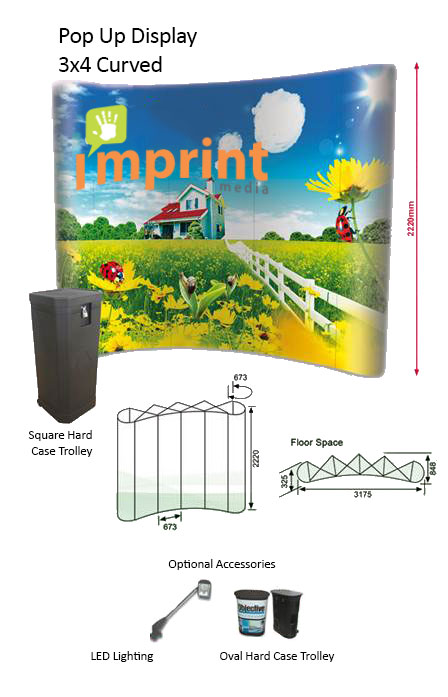 Pop Up Display 3x4 Curved