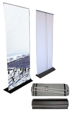 flat base pull up banner