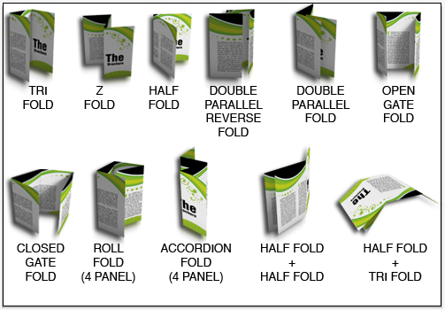 half fold then tri fold brochure template